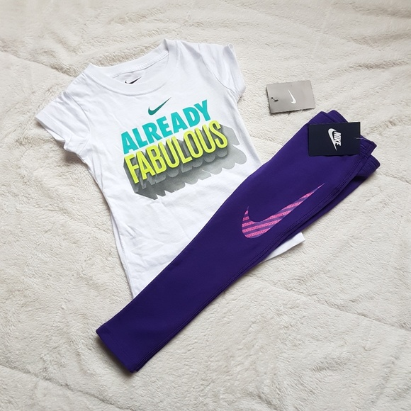 c40d7218e90f Nike Toddler Girl Short Sleeve Shirt and Leggings
